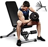 Aebow Hantelbank, verstellbar, faltbar, für Zuhause, Fitnessstudio, Workout,...
