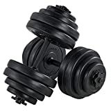 ArtSport Hantelset 30kg   Kurzhantel Set mit 2 Kurzhanteln 25 mm gerändelt, 16 Gewichte...