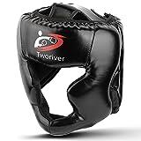 Outdors Boxen Kopfschutz, PU - Leder Chefquäler Sparring Helm für Boxen, MMA, UFC, Muay...