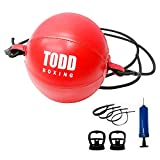 Double Head Boxen Speed Ball Boxen Training Aufblasbarer Boxsack Übung Boxball Ball Leder...