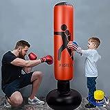ZILINGO Boxsack Standboxsäcke Kinder 160cm, Aufblasbare Boxsäule Tumbler...