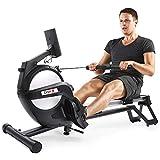 Dripex Rudergerät für Fitness zu Hause, rudermaschine mit LED-Monitor 3 kg Schwungmasse...
