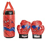 U/C Kinder Spiderman Cosplay Boxhandschuhe Boxsack Set Hängende Jungen Spiele Spielzeug...