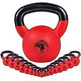 GORILLA SPORTS® Kettlebell - 2-32 kg Gewichte, Einzeln/Set, Gusseisen, Neopren...