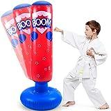 LEOHOME Kinder-Boxsack, 125,5 cm, freistehend, aufblasbar, Fitness-Boxsack, Boxsack für...