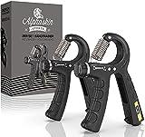 ALPHASKIN© Handtrainer - Verbessertes Konzept 2021 I hochwertiger Unterarmtrainer I...