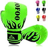 GROOFOO Kinder Boxhandschuhe für Kinder Boxsack Sparring Training, 4oz fit 3 bis 9 Jahre...