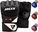 RDX MMA Kampfhandschuh aus Rindsleder, Schwarz, Grosse M